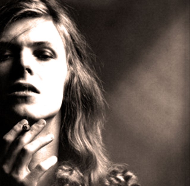 David Bowie - in 1971, at the threshold of gender-bending.