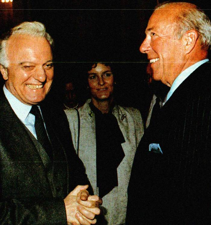 Eduard Shevardnadnze and George Shultz - they knew a secret.