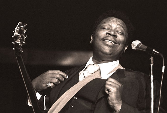 B.B. King with the ever-present Lucille.
