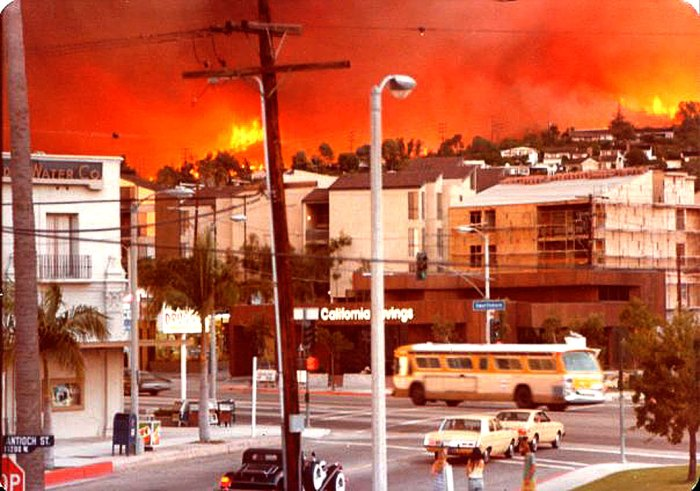 L.A. around this time of year occasionally catches on fire. It did in 1978.