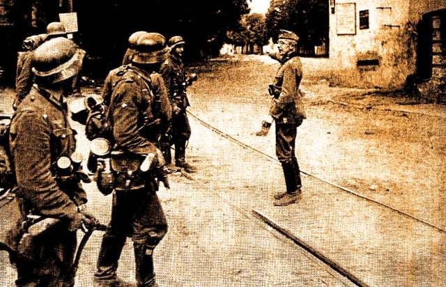 According to reports, the Germans were an hour and a half away.