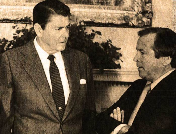 President Reagan and Howard Baker - Apparently, what he said and what he meant were two different things.