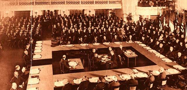 The Peace conference, as it looked on November 21, 1921.