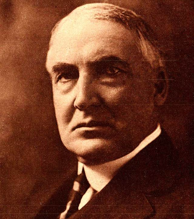 President Warren G. Harding - pushing for arms limitation, even in 1921.