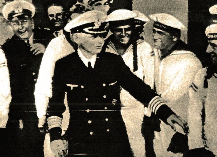 Graf Spee Captain Langsdorff and crew - the crew got to sit out the war in South America. Langsdorff would be dead of an apparent suicide a short time later.