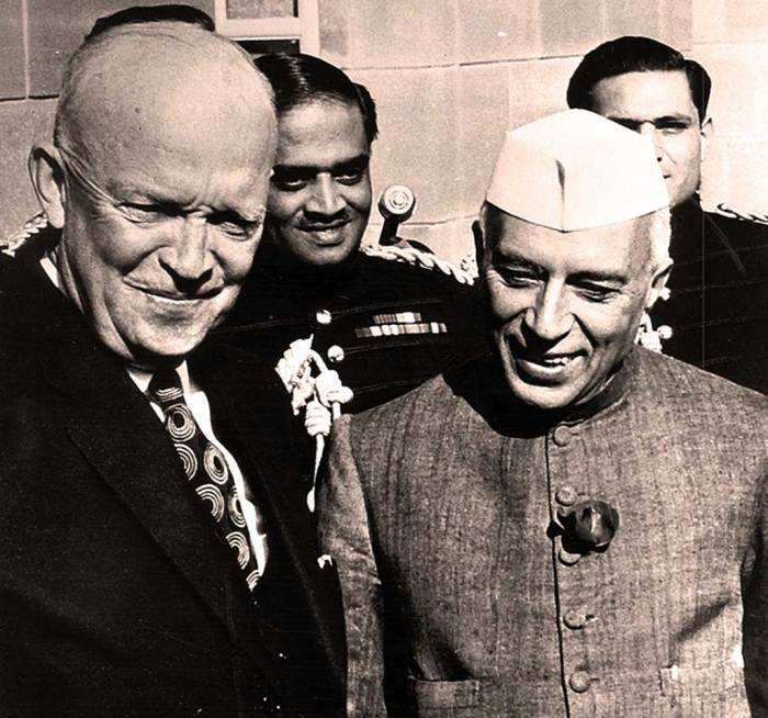 Eisenhower and Nehru - Most Indians assumed Ike was a Monarch. Had they known . . .