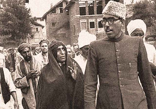 Sheikh Abdullah - overthrown Prime Minister  of Kashmir - heading towards a conspiracy.