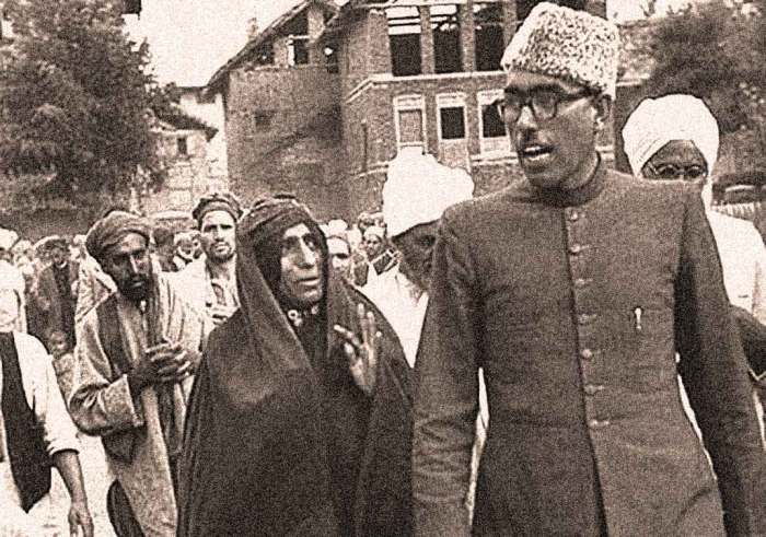 Sheikh Abdullah - overthrown Prime Minister  of Kashmir - heading towards a conspiracy.