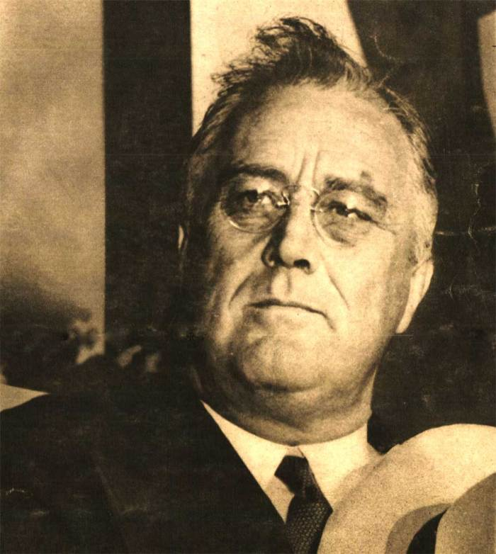 FDR - Accepting honorary Degree and celebrating Washington's Birthday at the same time.