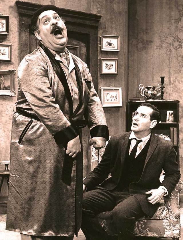 Zero Mostel (and Eli Wallach) - Early 60s Broadway was a different kettle of fish.
