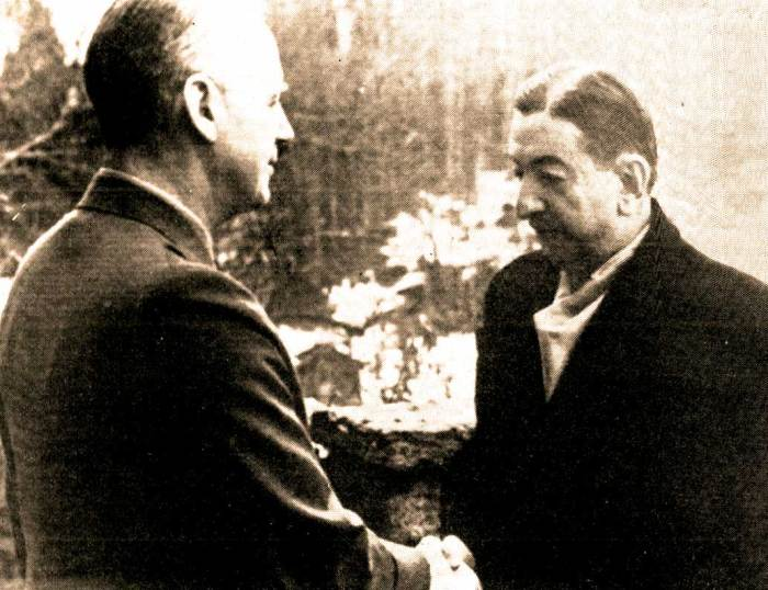 Germany's von Ribbentrop - Yugoslavia's Cvetchovich -  Sealing the deal - sealing the fate.