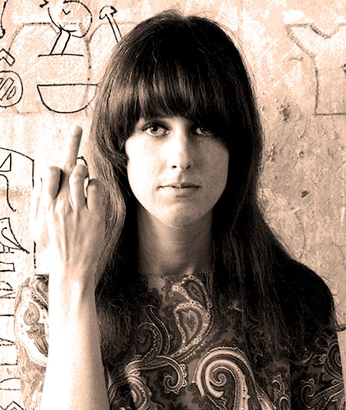 With the inimitable Grace Slick - the face that launched a thousand trips.