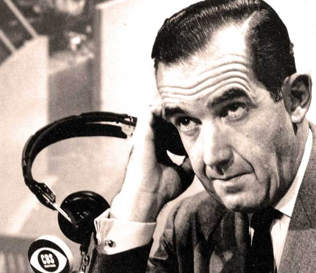"""Edward R. Murrow - """"A communications system is totally neutral. It has no conscience. No principle. No Morality. it has only a history. It will broadcast filth and morality with equal facility."""""""