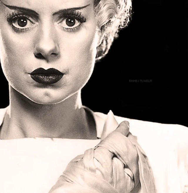 Elsa Lanchester - wildly talented and insane wit, but forever known as The Bride Of Frankenstein.