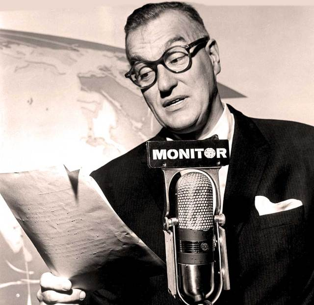 """Dave Garroway - radio host. The credo was """"Monitor: Going places - doing things""""."""
