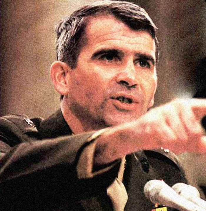 """Many asked: """"Is Oliver North a heel, a hero or something in-between""""."""