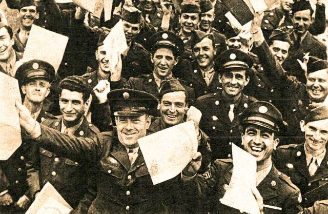 The end of World War 2 was days away, but the slow return to civilian life was starting for many.