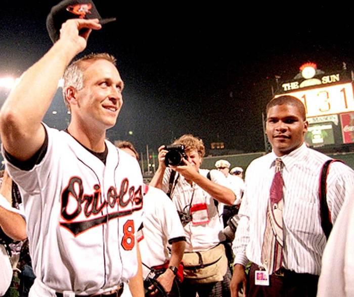 Cal Ripken - making baseball history.