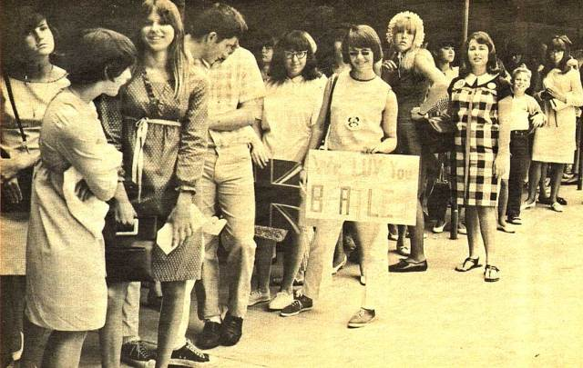. . . and smack in the middle of Beatlemania too.