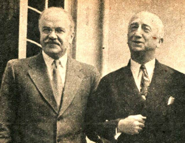 Moscow Conference - Molotov and Sec. of State Byrnes - smiles, for now.