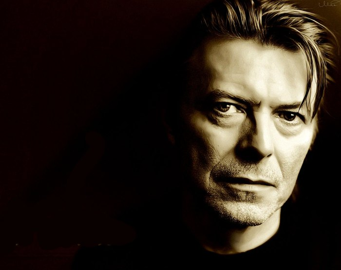David Bowie - in honor of Birthday weekend, or Holy Week - whichever suits.