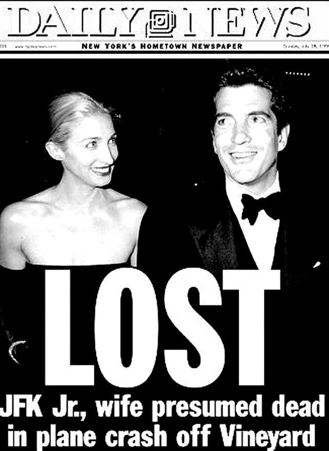 JFK Jr. and Carolyn Bessette