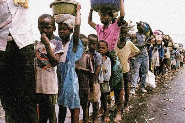 Refugees fleeing Liberian overthrow