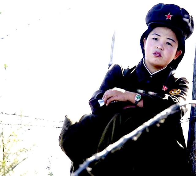 North Korea looks at South Korea and South Korea looks back