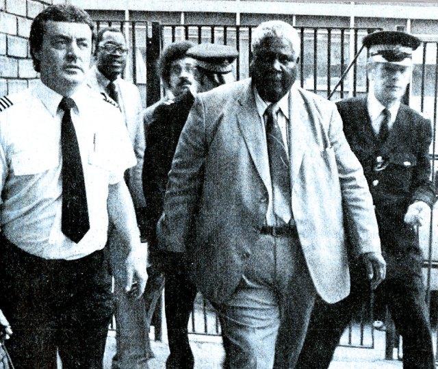 Joshua Nkomo arrives in London