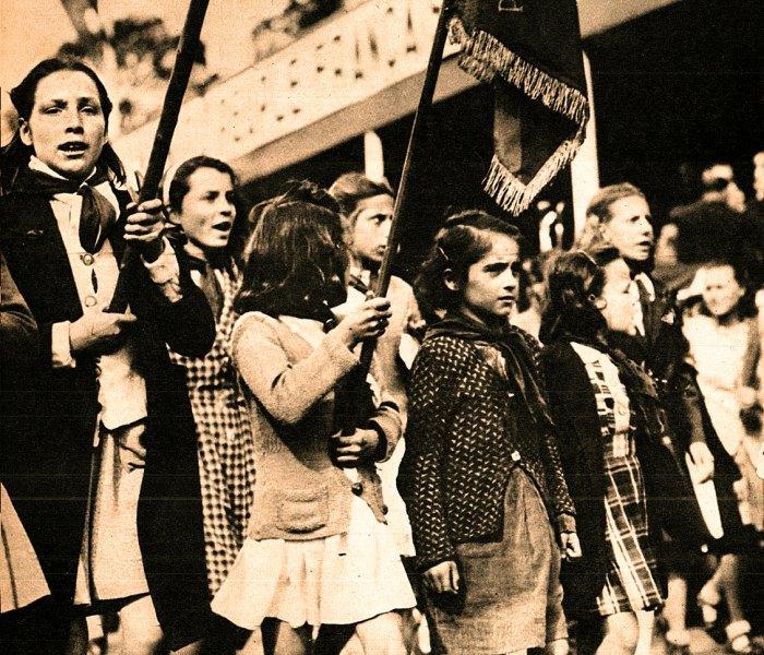 Children in Paris - May Day Demonstration 1947