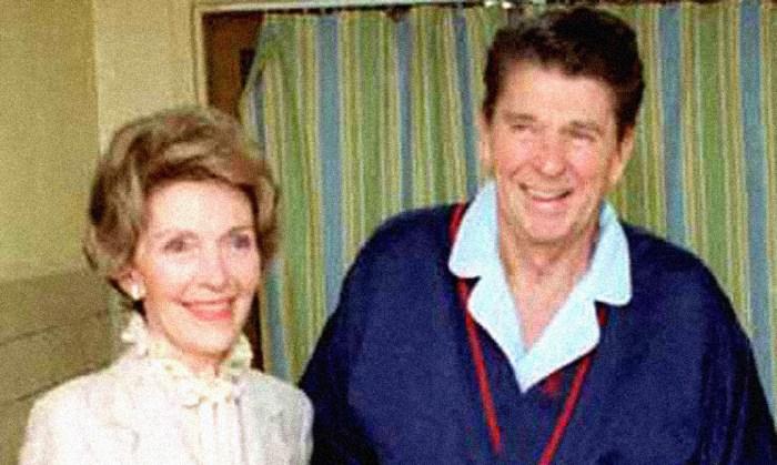 Pres. Reagan - Recovering from Assassination attempt - April 5, 1981