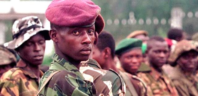 Rebel forces arrive in Kinshasa, Zaire
