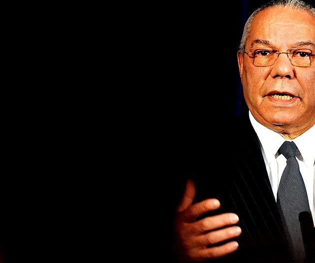 Colin Powell - ending months of speculation