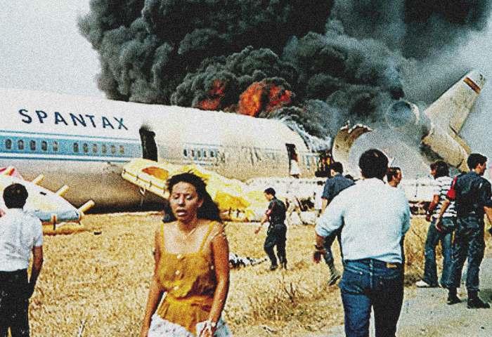 Air crash in Malaga Spain