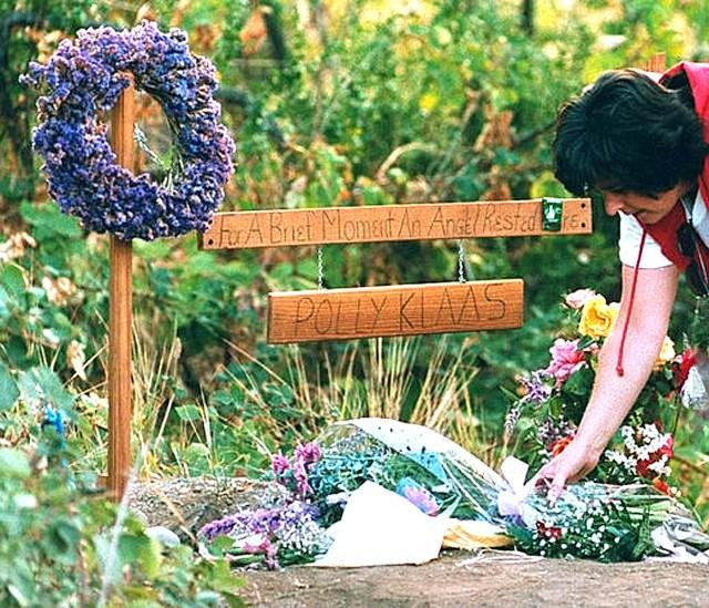 Polly Klass makeshift memorial