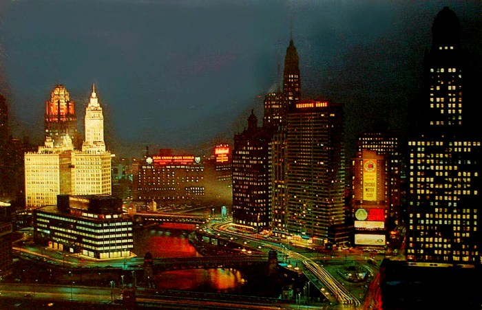 Chicago skyline - 1956