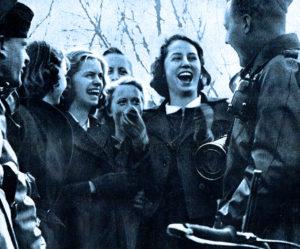 German Troops and civilians - War in 1940