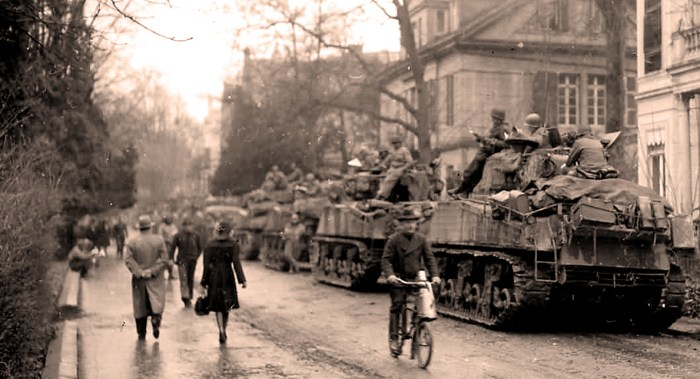 Allied Armies occupying German towns
