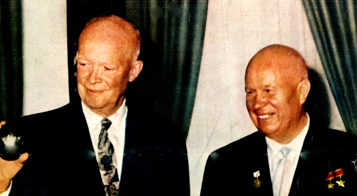 President Eisenhower and Nikita Khrushchev - 1959