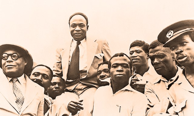 Kwame Nkrumah - and supporters 1954