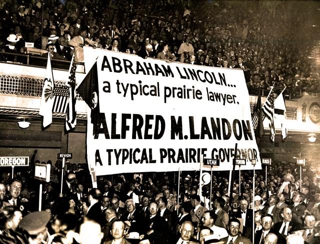 GOP Convention -1936 - Alf Landon banners