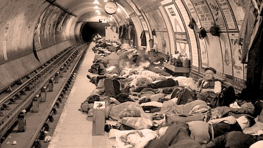 Shelter In the Underground –  Life In Wartime London – 1944 – Past Daily Reference Room