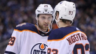 816d80aac24 Nuge and Draisaitl first Oilers to score hat tricks in the same game since  1985