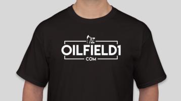 OILFIELD1 OUTLINE LOGO shirt black