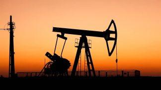 oilfield pump sunset