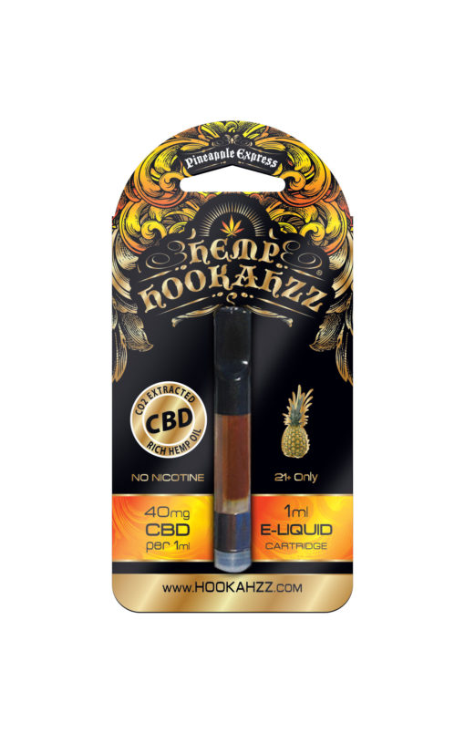 Hookahzz 40mg CBD Pineapple Express Front updated PRINT v14 01