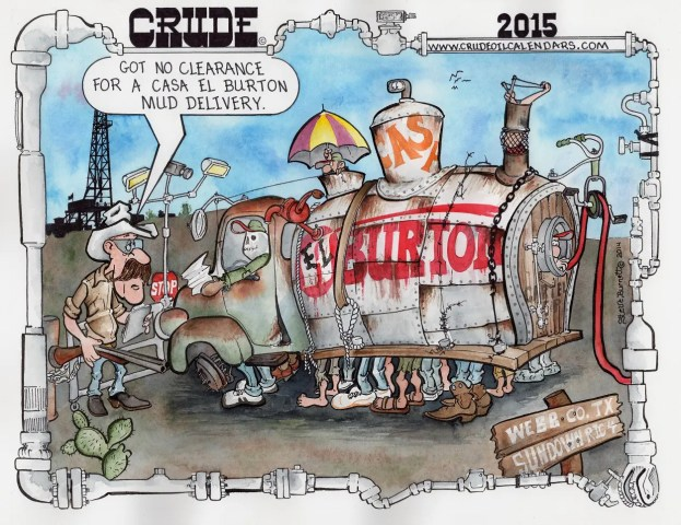 Oilman Cartoon: Cartel E & P/South Texas Drilling Rig Security