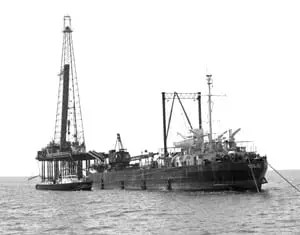 Developing Technology: Humble Oil (Standard Oil) offshore rig 1950s