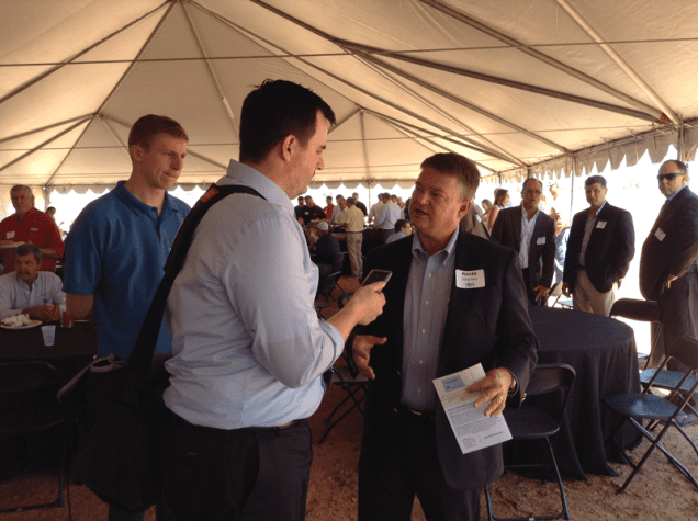 Dustin Monke, editor, The Dickinson Press interview Kevin Stanley, CEO, CEO, Ventech Engineers International, Houston, TX. Ventech was one of the major players involved in construction of the Dakota Prairie Refinery.