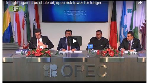 In fight against us shale oil, opec risk lower for longer
